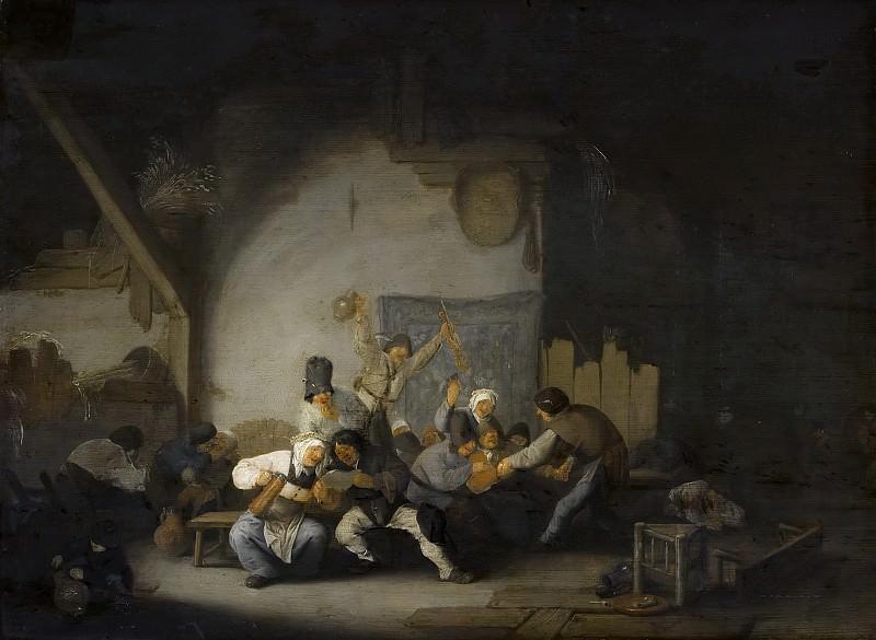 Adriaen van Ostade - Peasants Making Merry. Mauritshuis