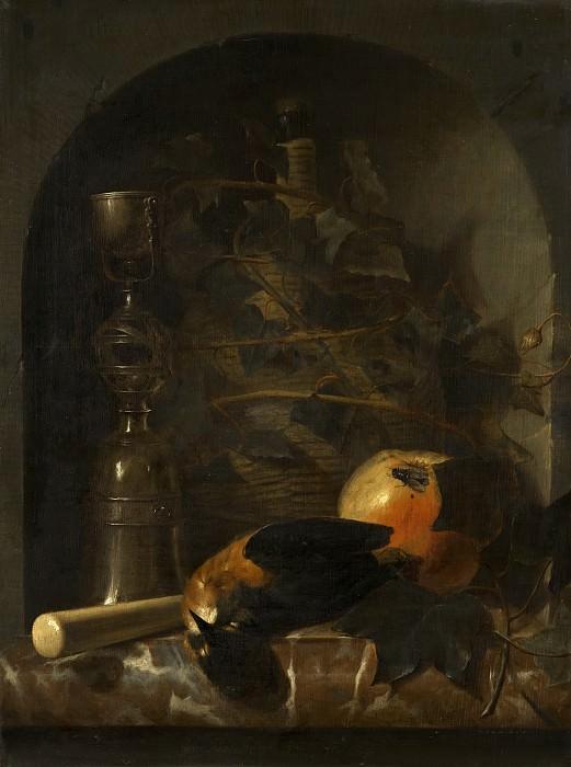 Johan van Haensbergen - Still Life with a Wicker Jug. Mauritshuis