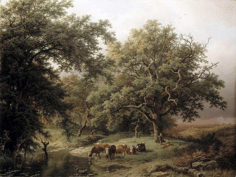 Barend Cornelis Koekkoek - Brook by the Edge of the Woods. Mauritshuis