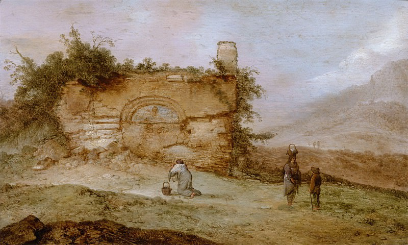 Jacob Sibrandi Mancadan - Italian Landscape with Ruins. Mauritshuis