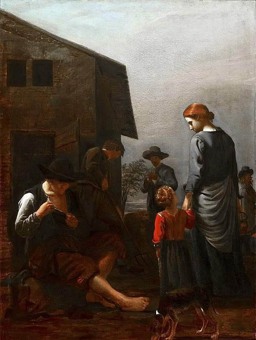 Michael Sweerts - Peasant Family, with a Man Removing Fleas from Himself. Mauritshuis