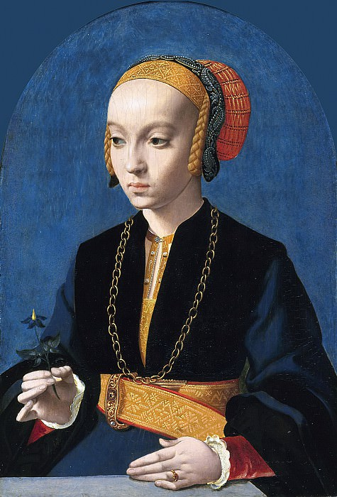 Bartholomäus Bruyn the Elder - Portrait of Elisabeth Bellinghausen (c.1520- after 1570). Mauritshuis