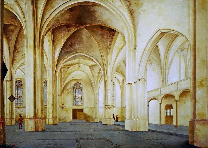 Pieter Saenredam - The Interior of the Cunerakerk in Rhenen. Mauritshuis