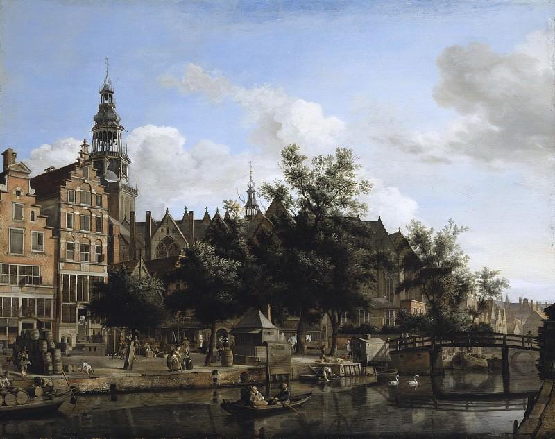 Jan van der Heyden - View of Oudezijds Voorburgwal with the Oude Kerk in Amsterdam. Mauritshuis