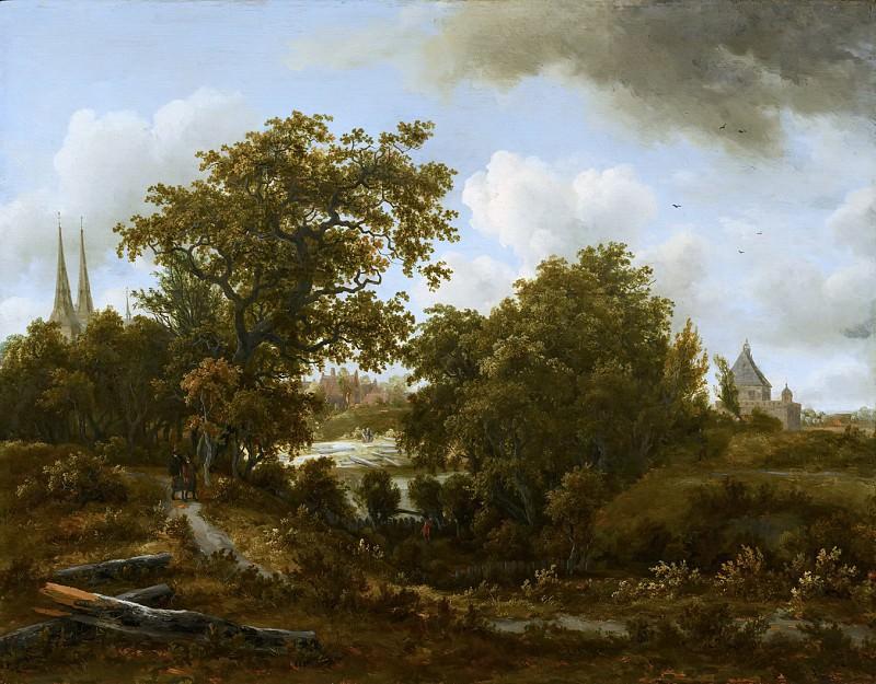 Meindert Hobbema - Landscape near Deventer. Mauritshuis