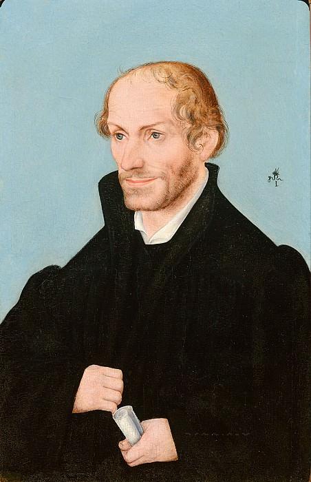 Кранах, Лукас I (и/или мастерская) - Портрет Филиппа Меланхтона (1497-1560). Маурицхёйс