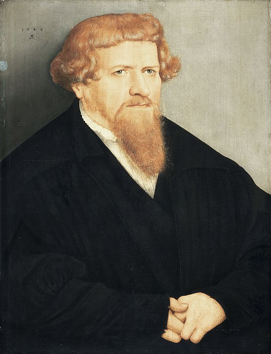 Lucas Cranach the Younger - Portrait of a Man with a Red Beard. Mauritshuis