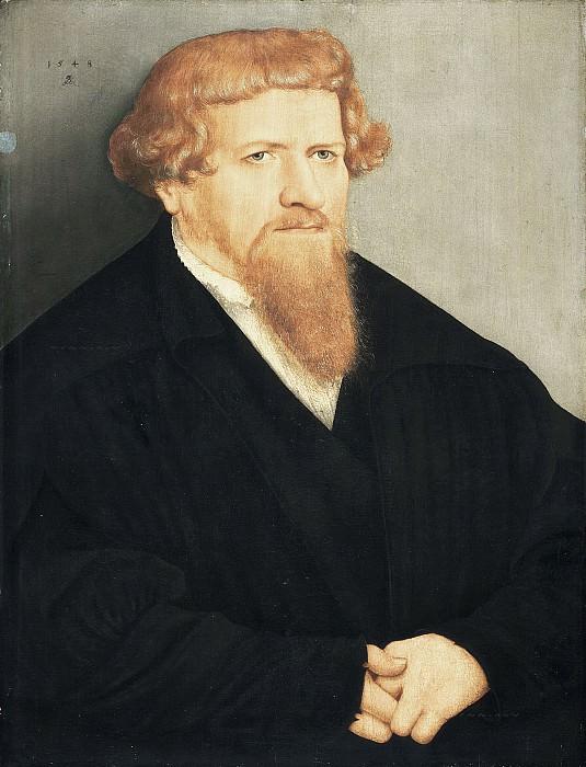 Кранах, Лукас II - Портрет рыжебородого мужчины. Маурицхёйс