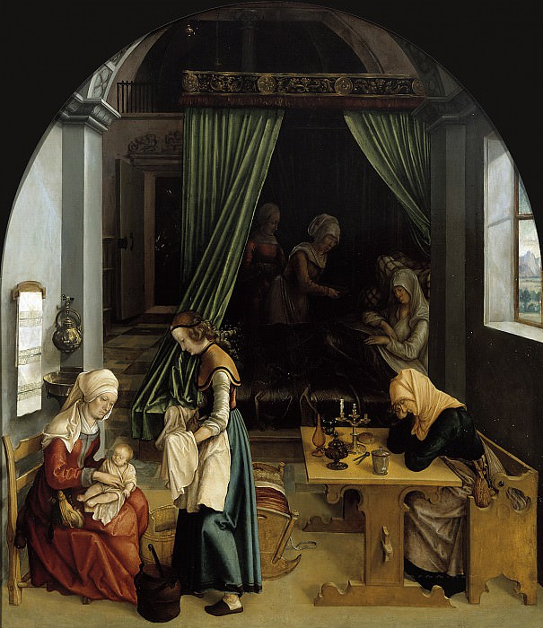 Anonymous (Germany) - The Birth of Mary. Mauritshuis