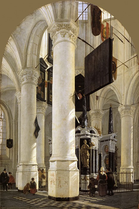 Gerard Houckgeest - The Tomb of William the Silent in the Nieuwe Kerk in Delft. Mauritshuis