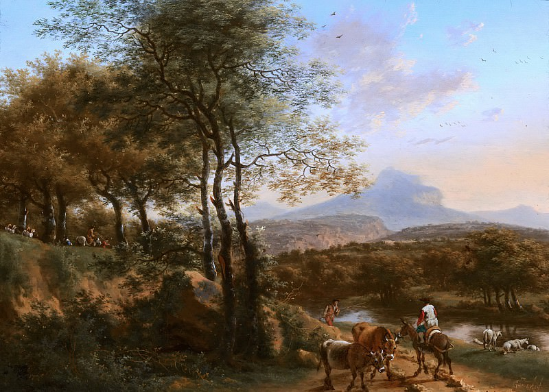 Willem de Heusch - Mountainous River Landscape in Italy. Mauritshuis