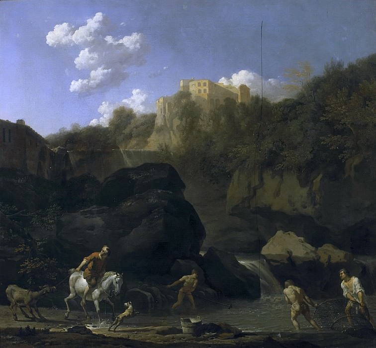 Karel Dujardin - The Waterfalls at Tivoli. Mauritshuis