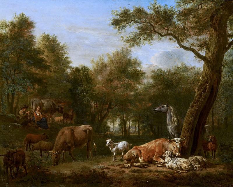 Adriaen van de Velde - Wooded Landscape with Cattle. Mauritshuis