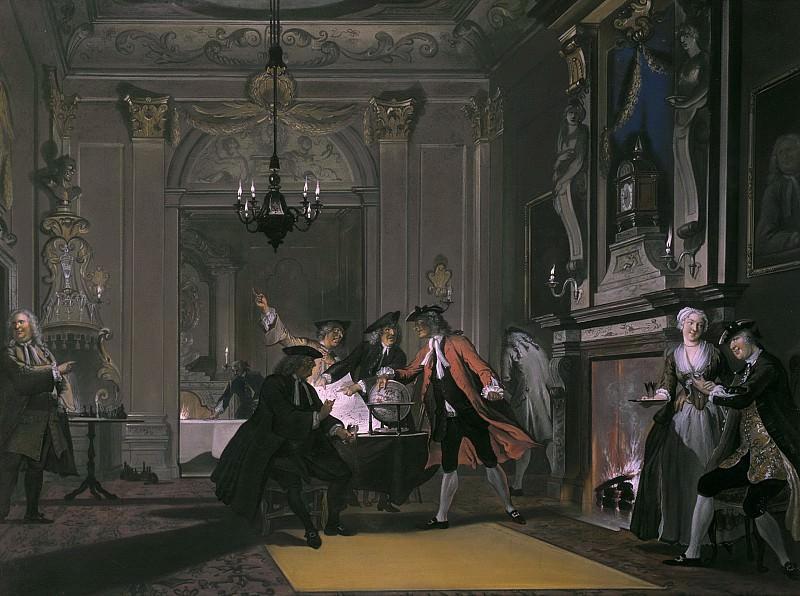 Cornelis Troost - 'Loquebantur Omnes' (Everyone was talking). Mauritshuis