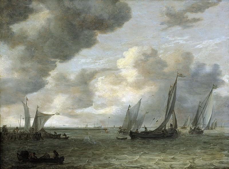 Jan van Goyen - Estuary with Sailing Boats. Mauritshuis