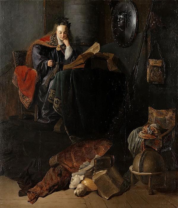 Rembrandt van Rijn (circle of) - Minerva. Mauritshuis