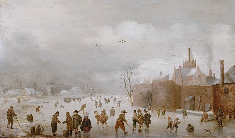 Anthonie Verstralen - Winter Landscape. Mauritshuis