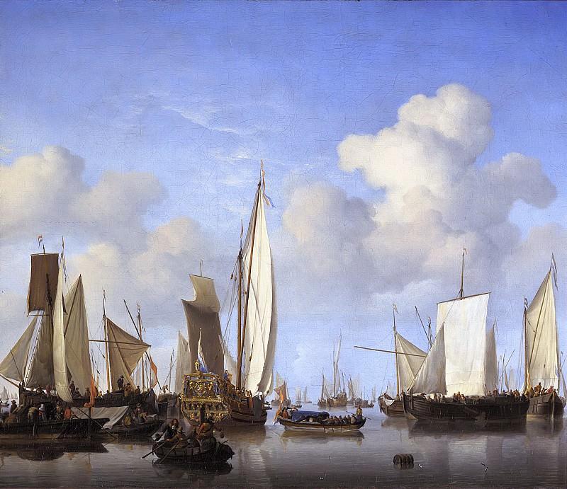 Willem van de Velde the Younger - Ships in the Roads. Mauritshuis