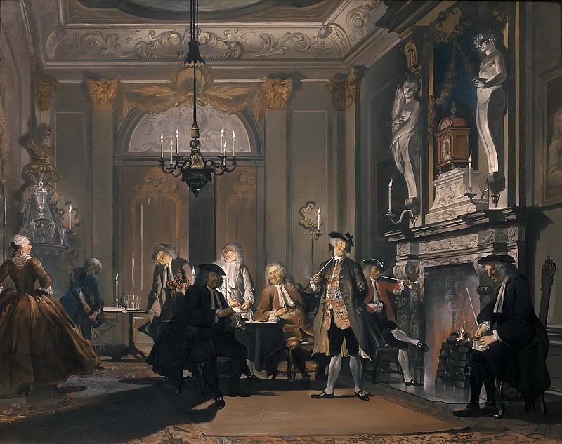 Cornelis Troost - 'Nemo Loquebatur' ('No one was speaking'). Mauritshuis