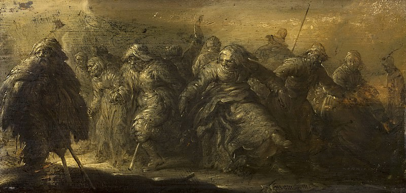Adriaen van de Venne - Dancing Beggars. Mauritshuis