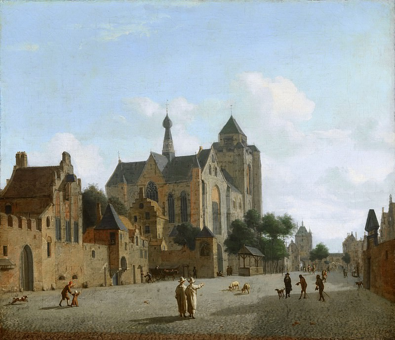 Jan van der Heyden - The Church at Veere. Mauritshuis