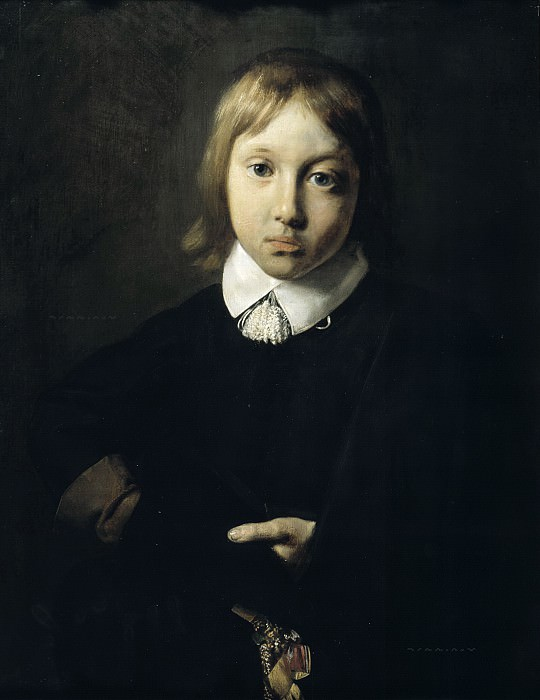 Jan de Bray - Portrait of a Boy, Aged Six. Mauritshuis