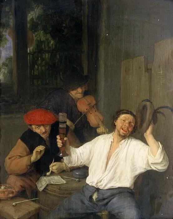 Adriaen van Ostade - The Merry Drinkers. Mauritshuis