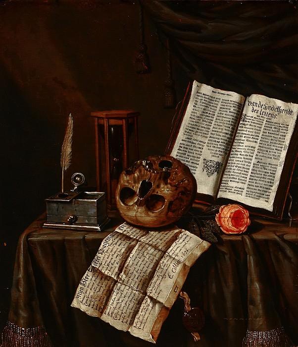 Edwaert Collier - Vanitas Still Life. Mauritshuis