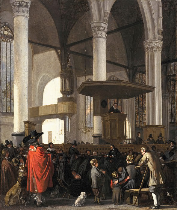 Emanuel de Witte - The Oude Kerk in Amsterdam during a Service. Mauritshuis