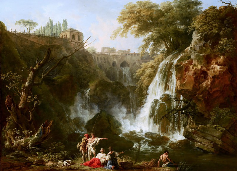 Claude-Joseph Vernet - The Waterfalls at Tivoli, with the Villa of Maecenas. Mauritshuis