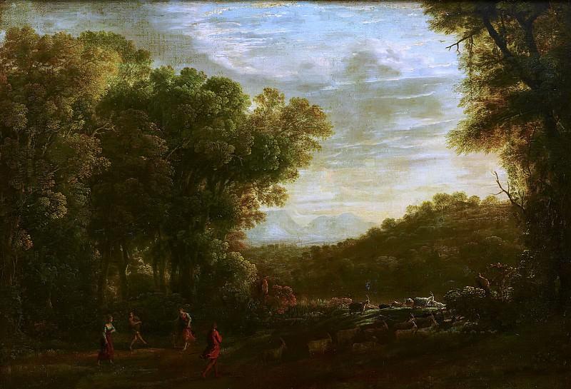 Herman van Swanevelt - Wooded Landscape with Shepherds. Mauritshuis