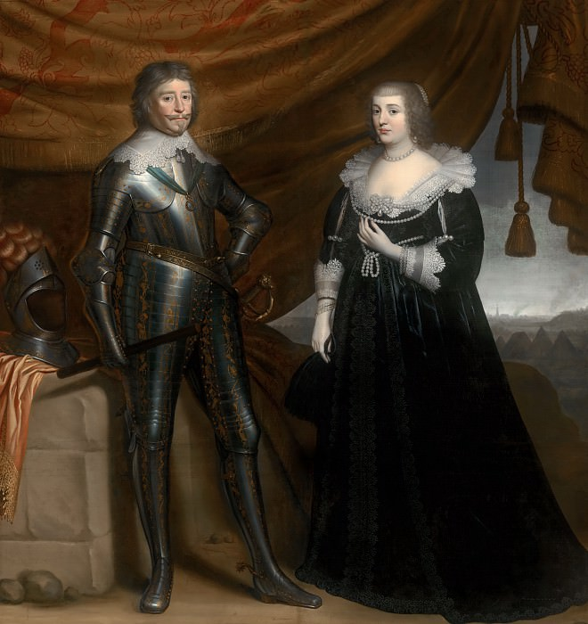 Gerrit van Honthorst - Double Portrait of Frederik Hendrik (1584- 1647) and Amalia of Solms-Braunfels (1602- 1675). Mauritshuis