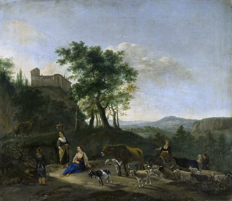 Jan Willemsz Lapp - Italianate Landscape with Shepherds. Mauritshuis