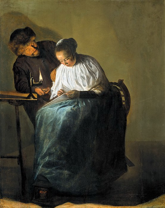 Judith Leyster - Man Offering Money to a Young Woman. Mauritshuis