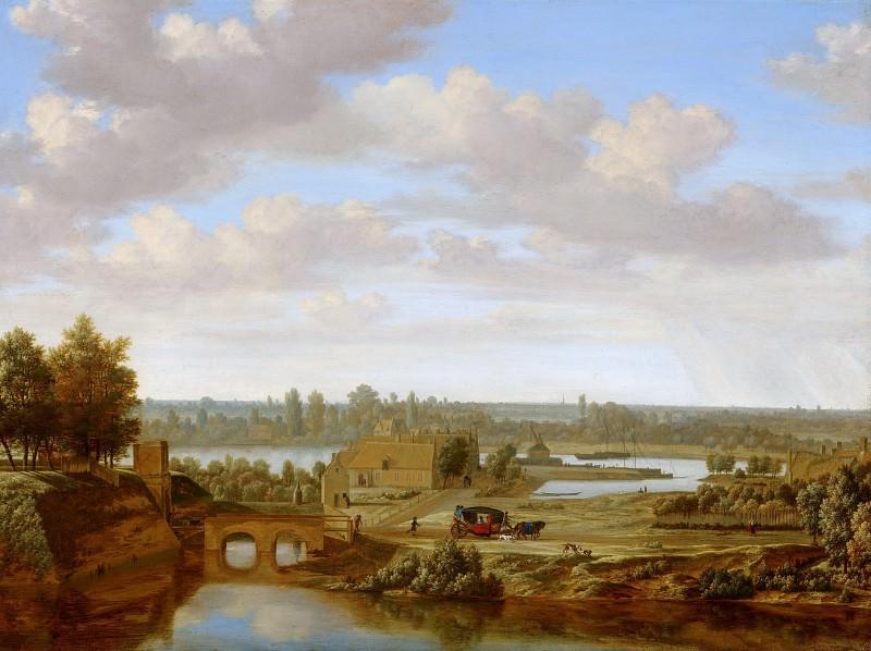 Хаген, Йорис ван дер - Панорамный пейзаж близ Арнема с Рейнскими воротами. Маурицхёйс