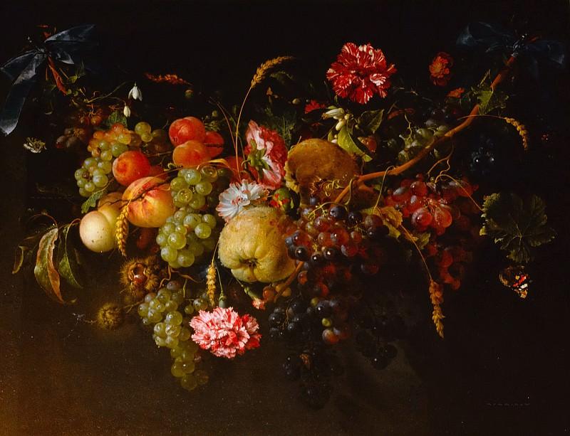 Хем, Ян Давидс де - Гирлянда из цветов и фруктов. Маурицхёйс