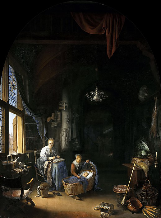 Gerrit Dou - 'The Young Mother'. Mauritshuis
