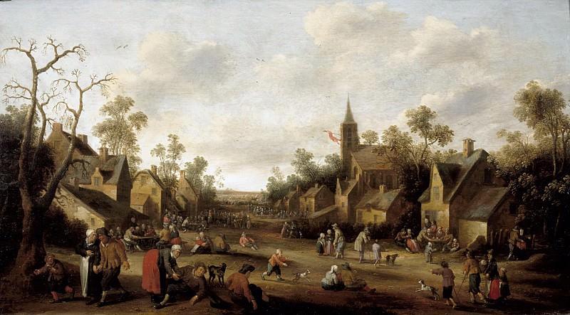 Joost Cornelisz Droochsloot - Village Scene. Mauritshuis