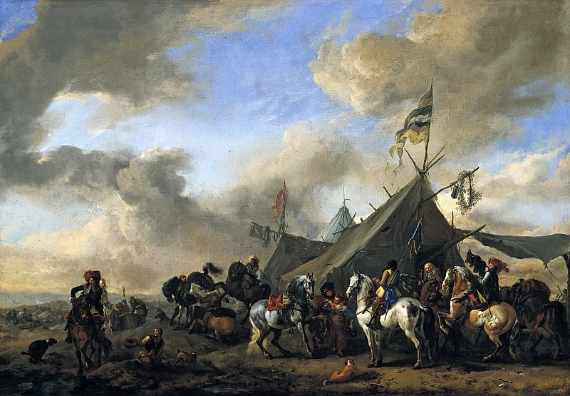 Philips Wouwerman - Army Camp. Mauritshuis