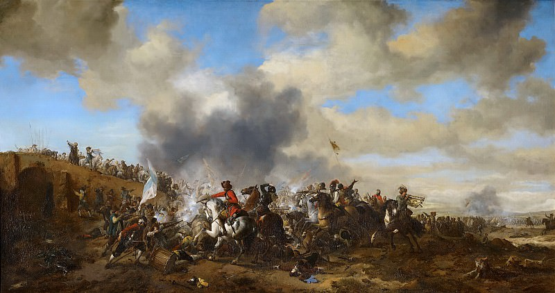 Вауэрман, Филипс - Сцена сражения. Маурицхёйс