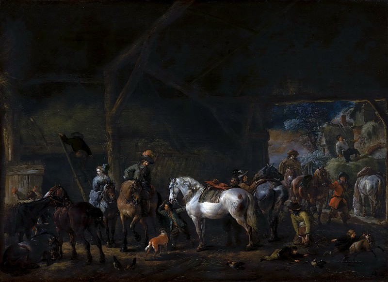 Philips Wouwerman - 'The Departure from the Stable'. Mauritshuis
