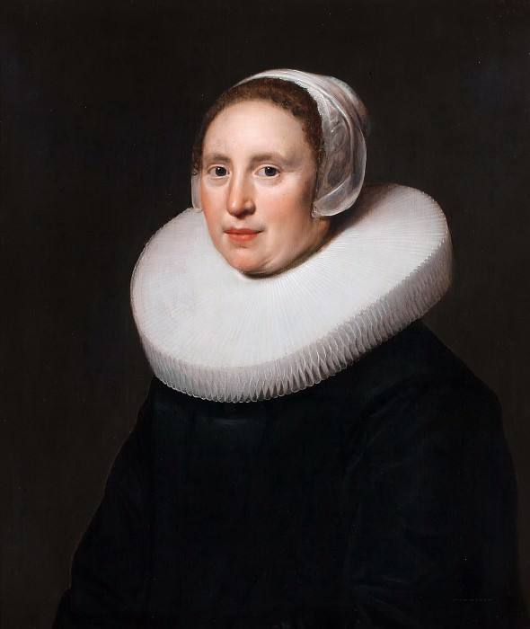 Jan Westerbaen the Elder - Portrait of Susanna Pietersdr Oostdijk (b. 1597). Mauritshuis