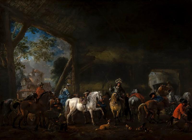 Вауверман, Филипс - Прибытие в конюшню. Маурицхёйс