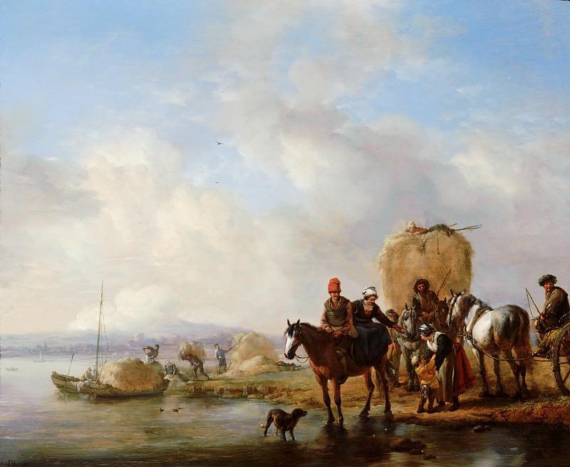 Philips Wouwerman - The Hay Wagon. Mauritshuis