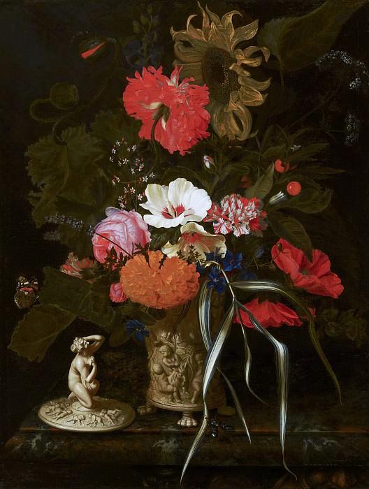 Maria van Oosterwyck - Flowers in an Ornamental Vase. Mauritshuis