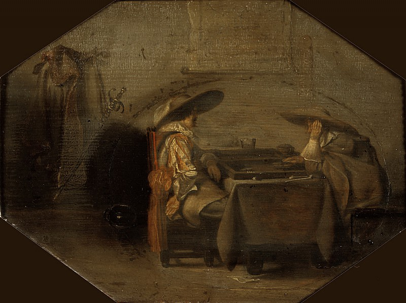 Pieter Codde - Tric-Trac Players. Mauritshuis