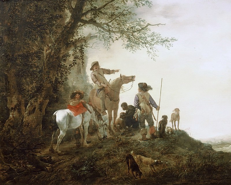 Philips Wouwerman - Hunters at Rest. Mauritshuis