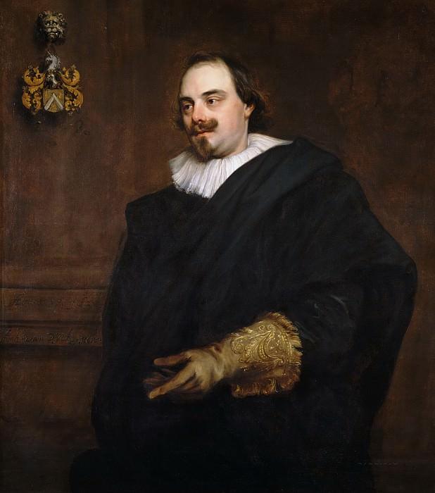 Anthony van Dyck - Portrait of Peeter Stevens (c.1590-1668). Mauritshuis