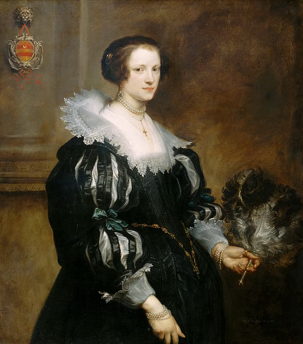 Anthony van Dyck - Portrait of Anna Wake (1605-before 1669). Mauritshuis