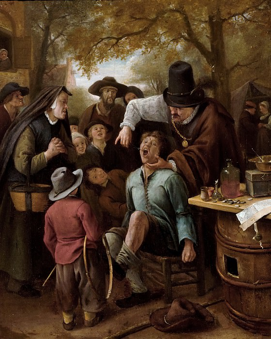 Jan Steen - The Tooth-Puller. Mauritshuis